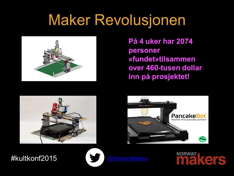 #kultkonf2015 @NorwayMakers På 4 uker har 2074 personer «fundet»tilsammen over 460-tusen dollar inn på prosjektet.