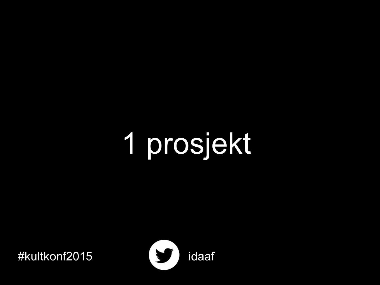 #kultkonf2015idaaf 1 prosjekt