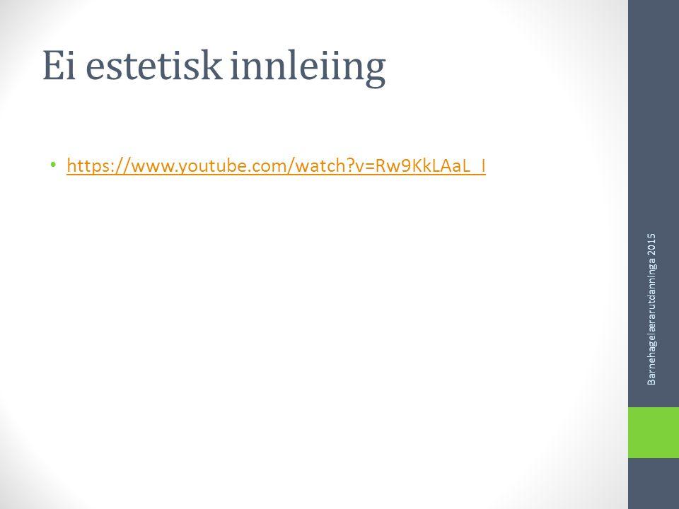 Presentasjon Faglærarar KKK Representantar frå praksis til kullteam Barnehagelærarutdanninga 2015