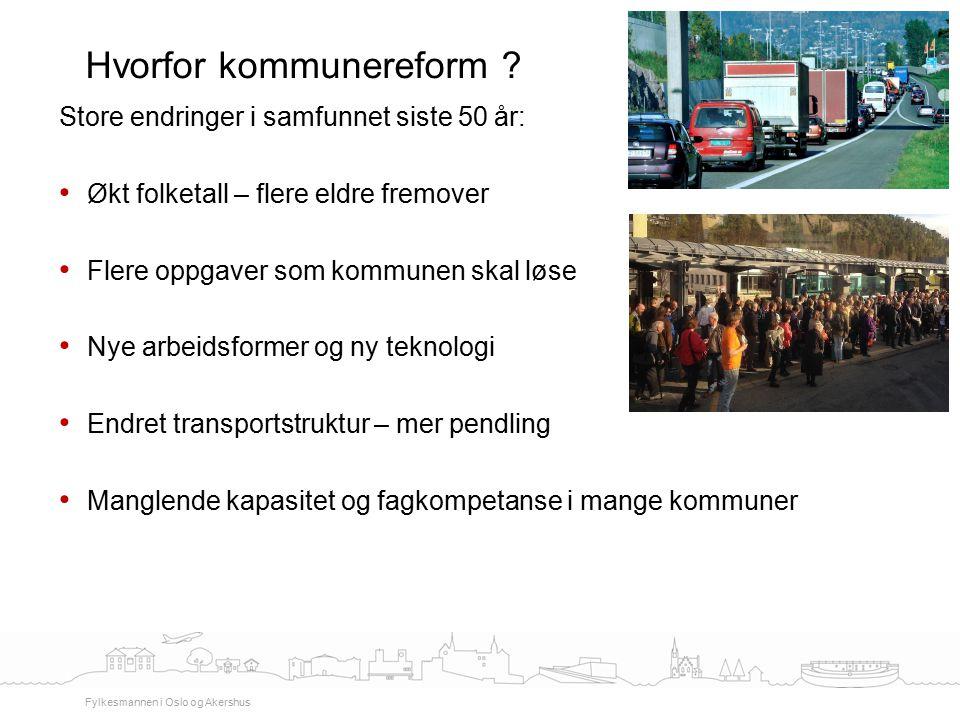 Store endringer i samfunnet siste 50 år: Økt folketall – flere eldre fremover Flere oppgaver som kommunen skal løse Nye arbeidsformer og ny teknologi