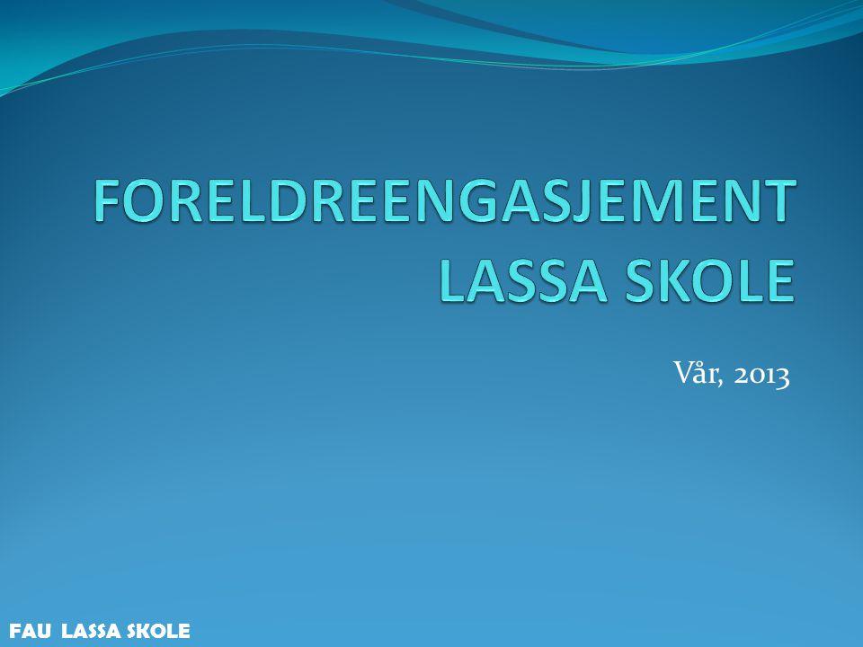 Agenda Velkommen Generelt om foreldrearbeidet ved Lassa skole Informasjon om arbeidsgruppene Fordeling på gruppene FAU LASSA SKOLE