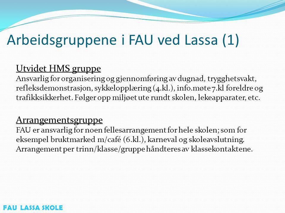 Arbeidsgruppene i FAU ved Lassa (2) SFO Samarbeider med SFO.