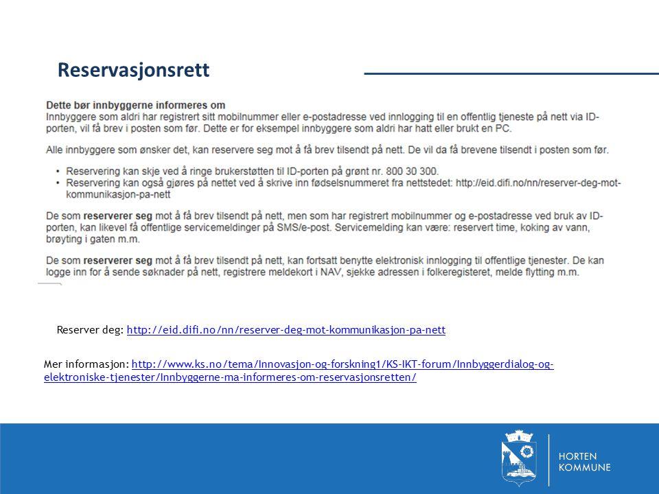 Mer informasjon: http://www.ks.no/tema/Innovasjon-og-forskning1/KS-IKT-forum/Innbyggerdialog-og- elektroniske-tjenester/Innbyggerne-ma-informeres-om-r