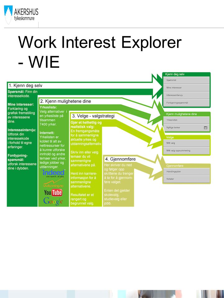 Work Interest Explorer - WIE