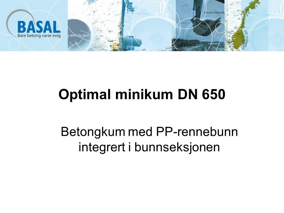 Optimal minikum DN 650 Betongkum med PP-rennebunn integrert i bunnseksjonen