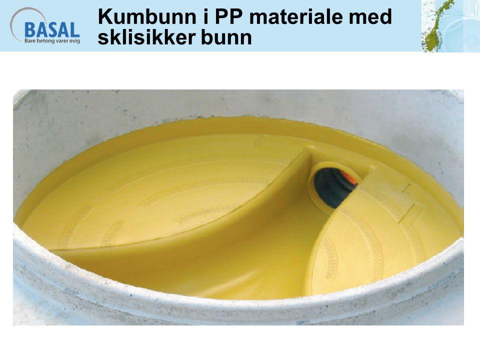 Heft mellom plast og betong Bunnseksjonen er sandstrødd for å sikre heft mellom plast og betong Innmuringskrage for økt heft ved muffe