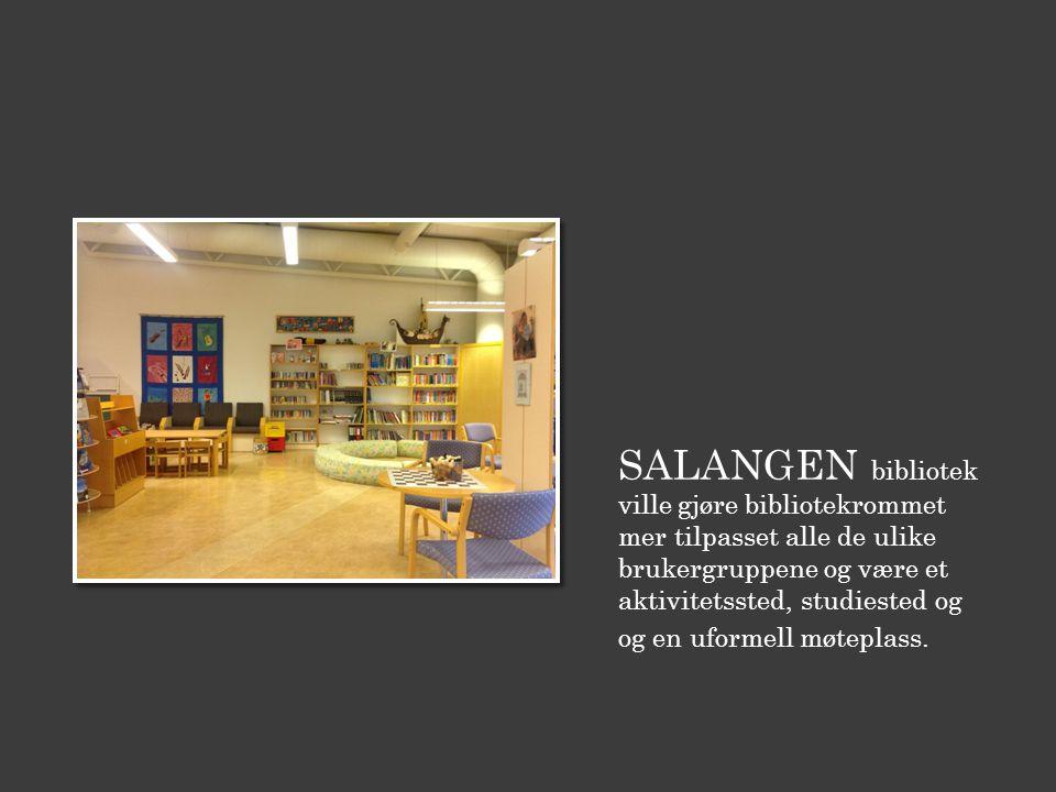SALANGEN bibliotek ville gjøre bibliotekrommet mer tilpasset alle de ulike brukergruppene og være et aktivitetssted, studiested og og en uformell møteplass.