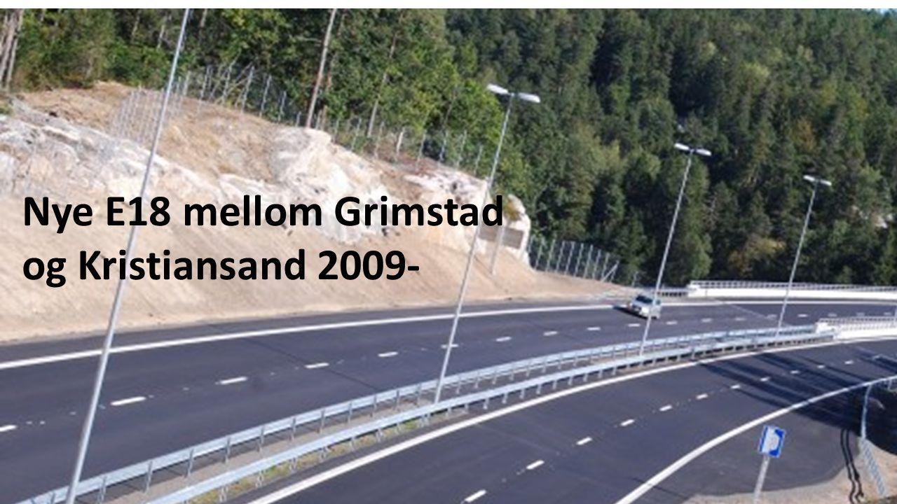 Nye E18 mellom Grimstad og Kristiansand 2009-
