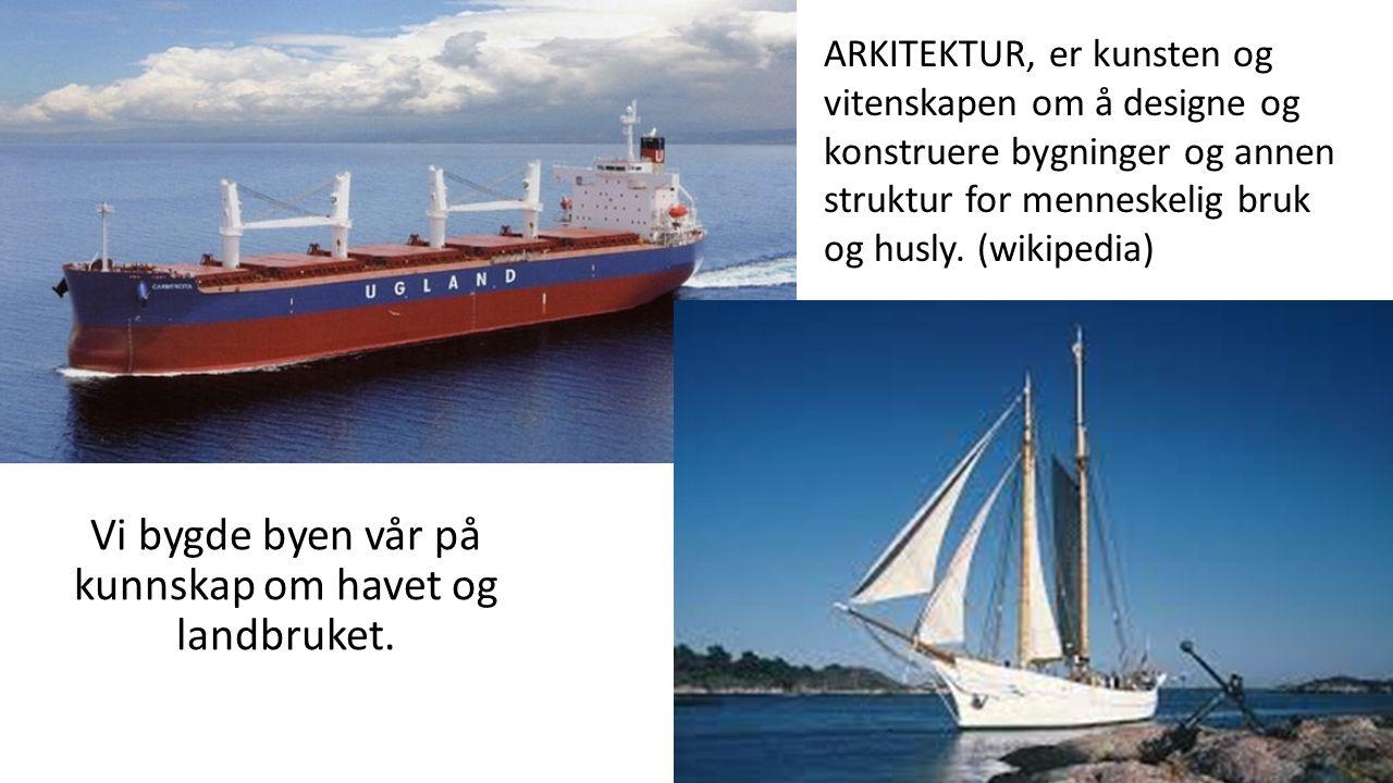shipping Vi bygde byen vår på kunnskap om havet og landbruket.