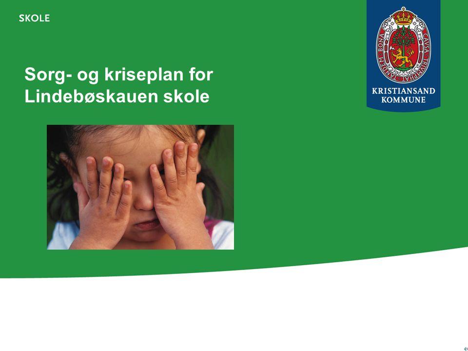 Sorg- og kriseplan for Lindebøskauen skole