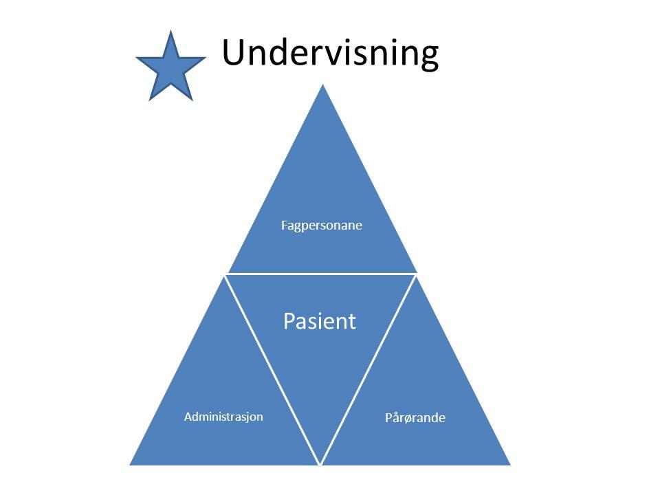 Undervisning Fagpersonane Administrasjon Pasient Pårørande