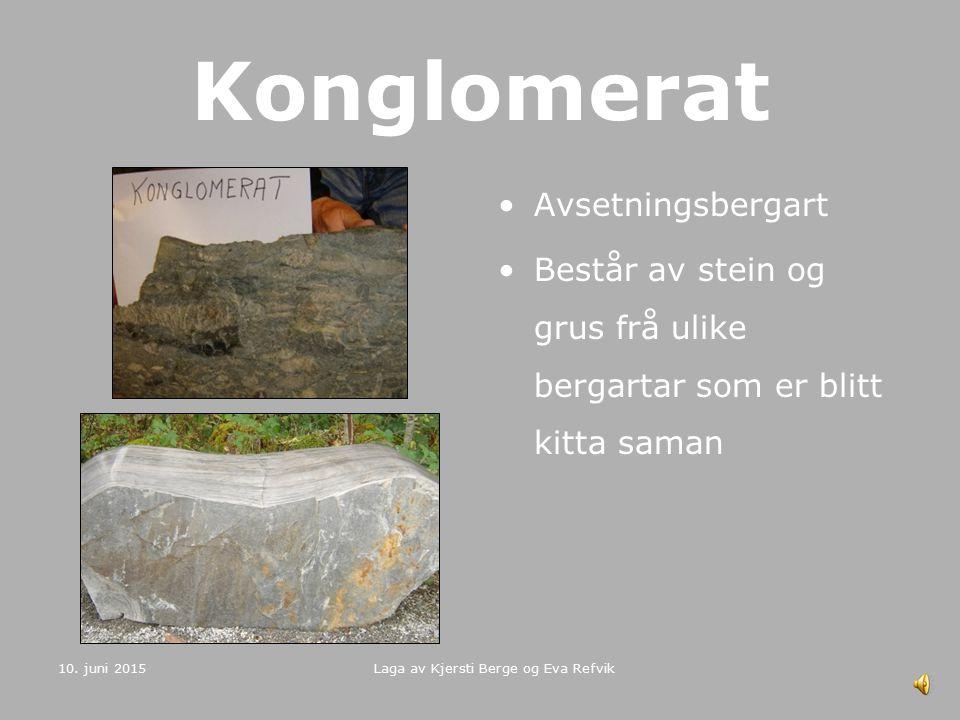 10. juni 2015 Laga av Kjersti Berge og Eva Refvik Gabbro Djupbergart Samansett av kalsiumrik plaglioklas og monoklin pyroksen Vanlegvis mørk eller grå