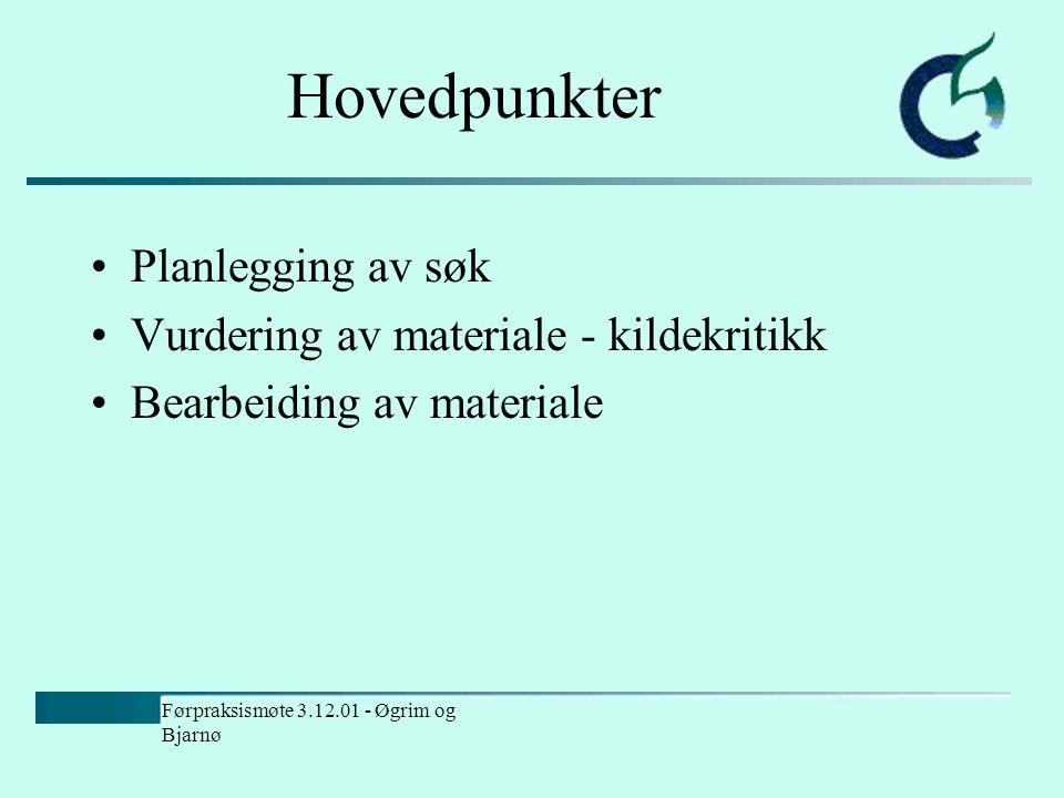 Bruk av internett i undervisning Leikny Øgrim og Vibeke Bjarnø 3. desember 2001