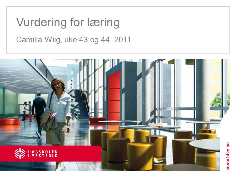 Vurdering for læring Camilla Wiig, uke 43 og 44. 2011