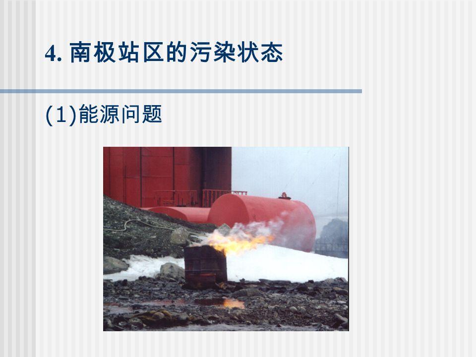 4. 南极站区的污染状态 (1) 能源问题