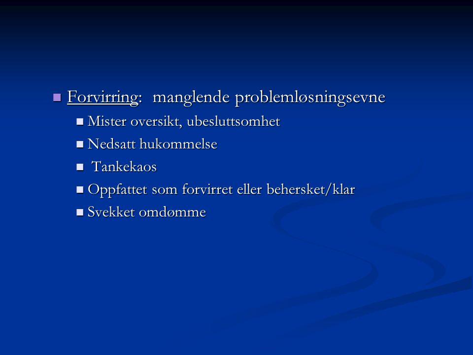 Alvorlighetsgrad av krisereaksjoner: Type hendelse: menneskeskapt, repeterte, varighet, intensistet.