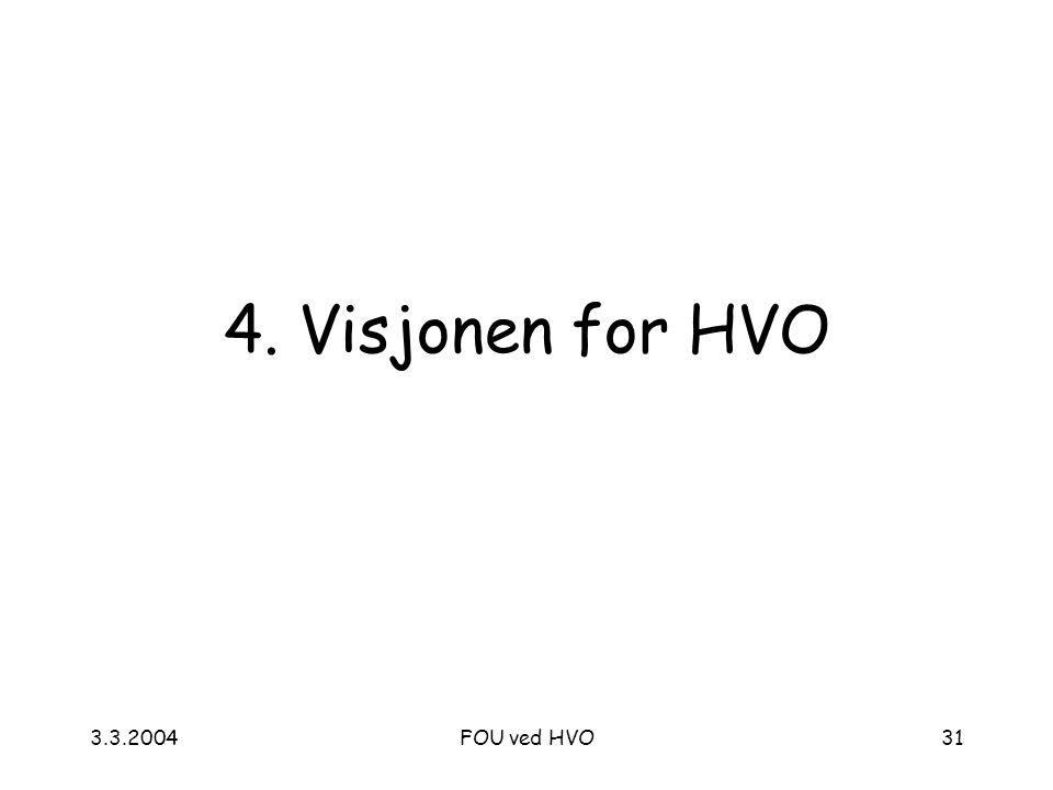 3.3.2004FOU ved HVO31 4. Visjonen for HVO