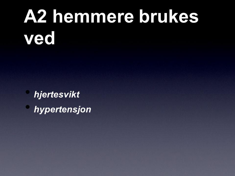 A2 hemmere brukes ved hjertesvikt hypertensjon