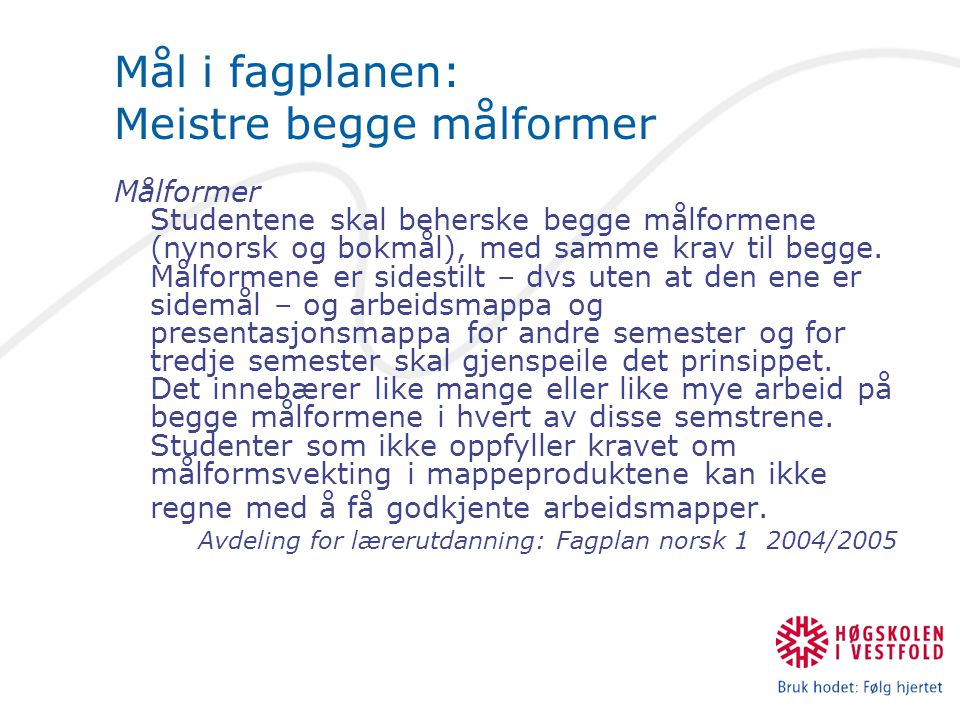 Eksempel på tilbakemelding til norskstudent: «Typiske feil er ordstilling, feil kjønn, feil verbbøying (e-/a-verb) og ord som ikkje finst på nynorsk.