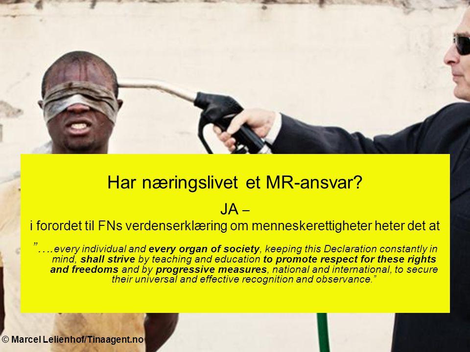 © Fredrik Naumann/Felix Features Amnestys kampanje krever 1.