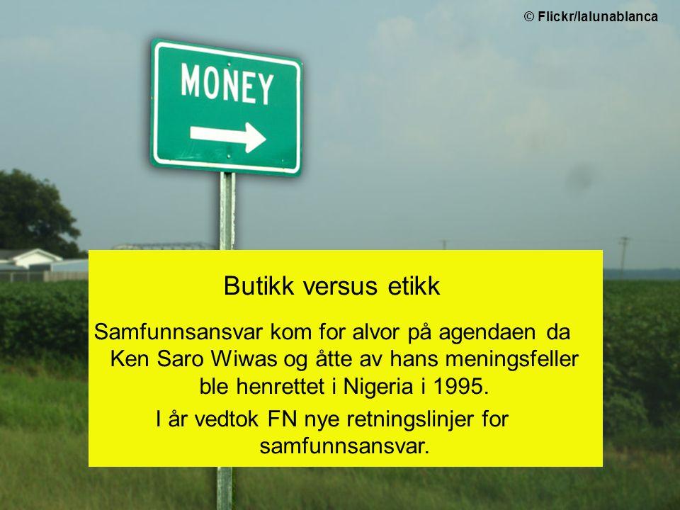 Amnesty jobber med samfunnsansvar fordi: økonomisk makt = politisk makt vi vet at selskaper bryter menneskerettighetene