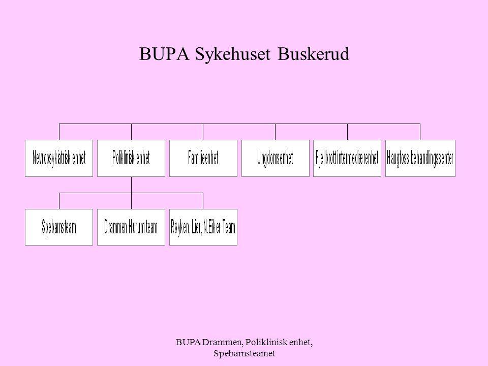 BUPA Drammen, Poliklinisk enhet, Spebarnsteamet BUPA Sykehuset Buskerud