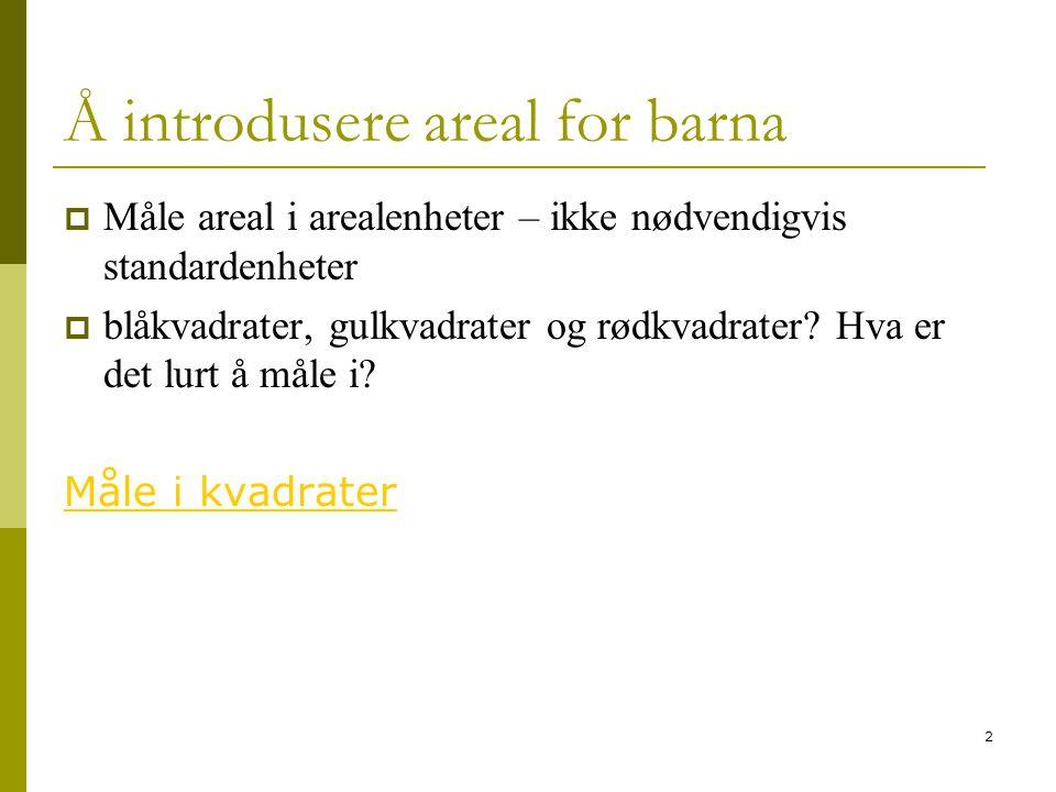 3 Oppgave 12 og 13  Finn arealet på figurene (ca) http://www- lu.hive.no/studietilbud/lub/documents/AnslaaArealet.ggb http://www- lu.hive.no/studietilbud/lub/documents/AnslaaArealet.ggb  A6.9 s.