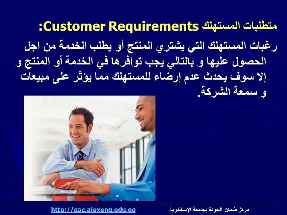 رغبات المستهلك التي يشتري المنتج أو يطلب الخدمة من اجل الحصول عليها و بالتالي يجب توافرها في الخدمة أو المنتج و إلا سوف يحدث عدم إرضاء للمستهلك مما يؤ