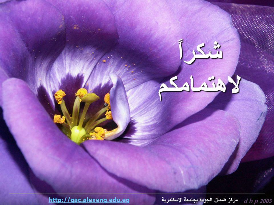 شكراًلاهتمامكم مركز ضمان الجودة بجامعة الإسكندرية http://qac.alexeng.edu.eghttp://qac.alexeng.edu.eg