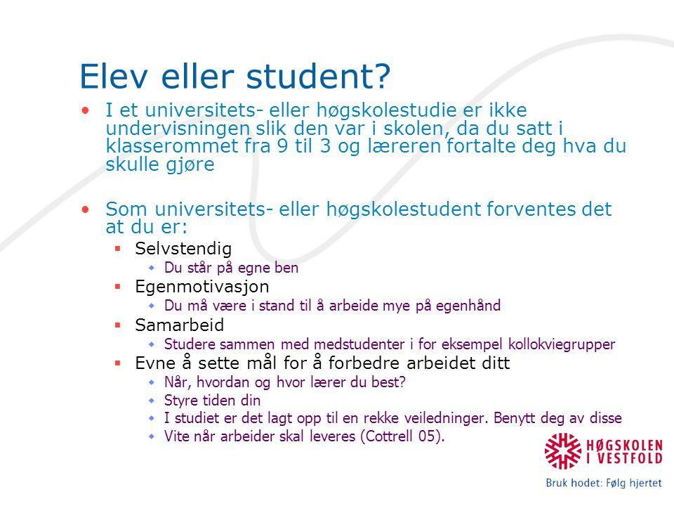 Elev eller student.
