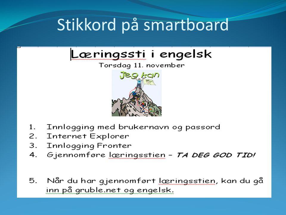 Stikkord på smartboard