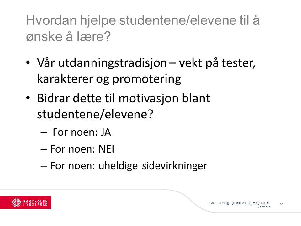 Hvordan hjelpe studentene/elevene til å ønske å lære.