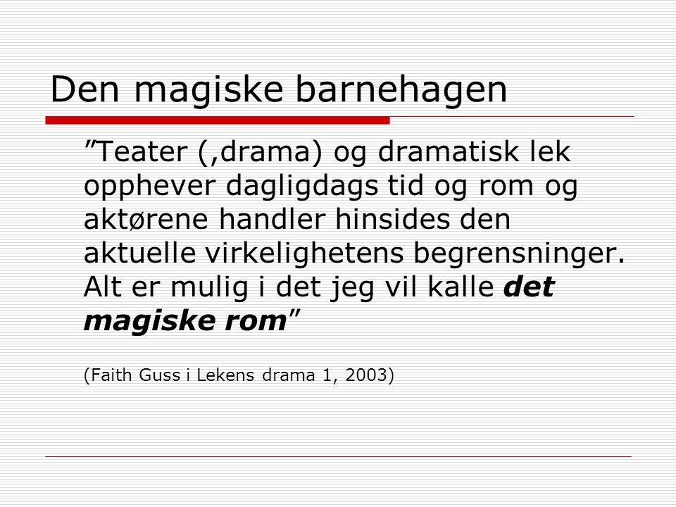 Dramafaget  Pedagogisk forankring i LEKEN  Kunstnerisk forankring i TEATRET