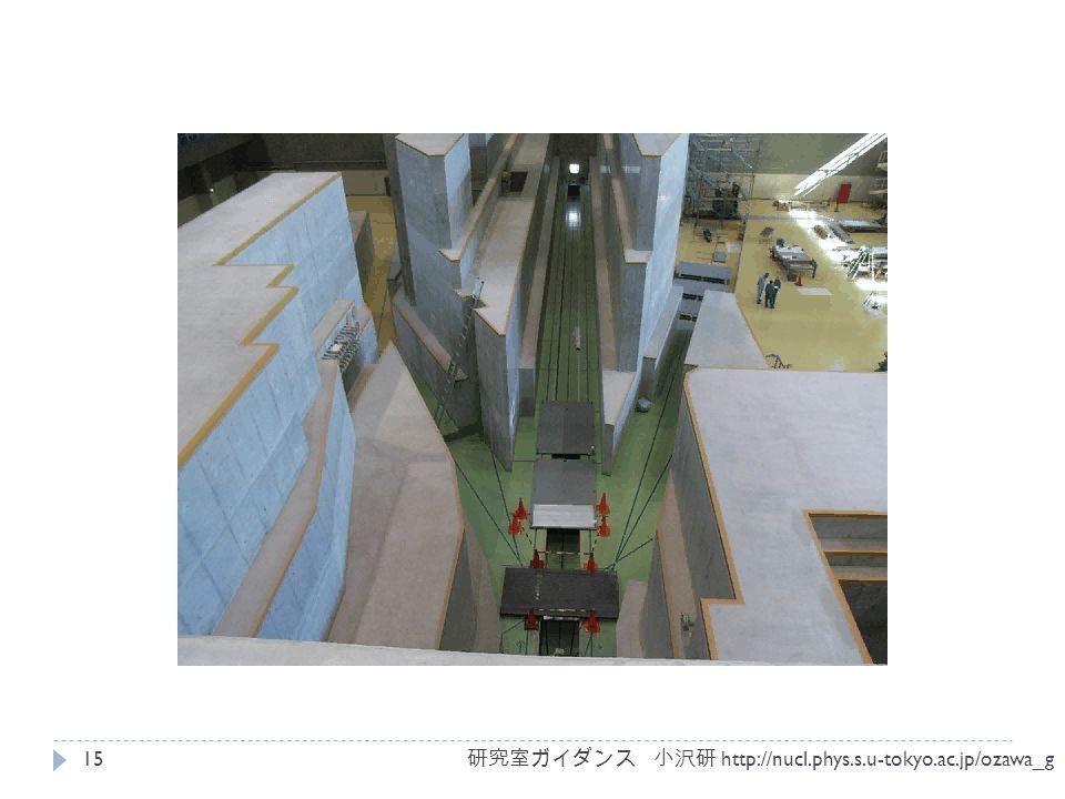 研究室ガイダンス 小沢研 http://nucl.phys.s.u-tokyo.ac.jp/ozawa_g 15