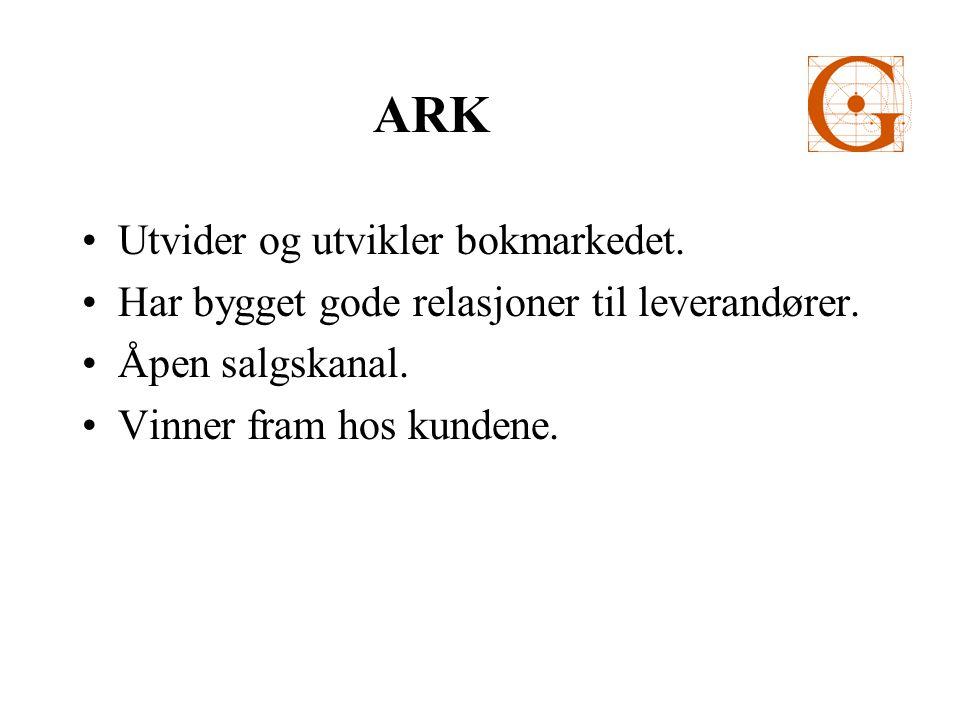 ARK Utvider og utvikler bokmarkedet. Har bygget gode relasjoner til leverandører.