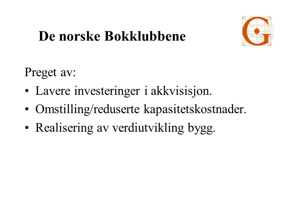 Preget av: Lavere investeringer i akkvisisjon. Omstilling/reduserte kapasitetskostnader.