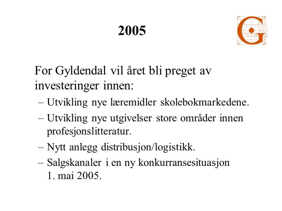 For Gyldendal vil året bli preget av investeringer innen: –Utvikling nye læremidler skolebokmarkedene.