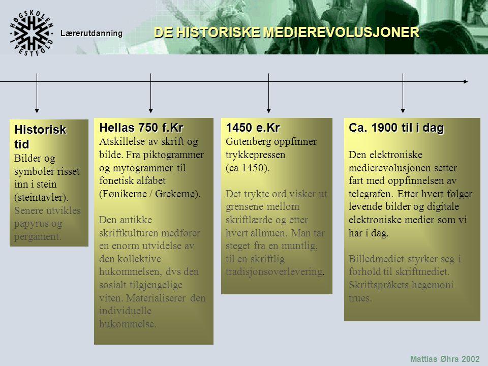 Lærerutdanning Mattias Øhra 2002 Historisk tid Bilder og symboler risset inn i stein (steintavler).