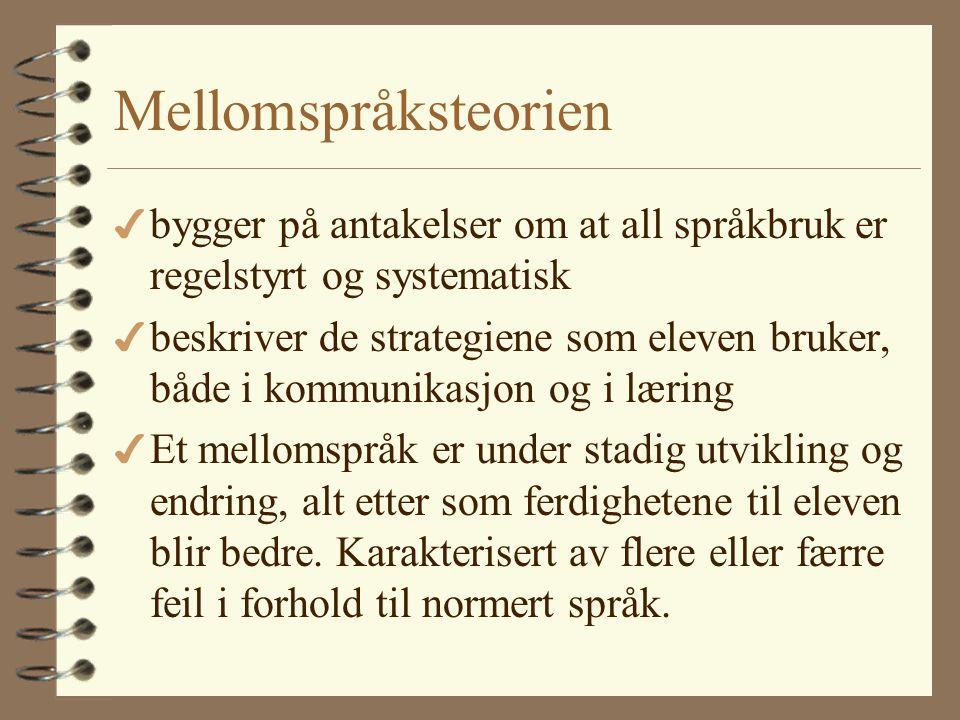 Syntaks 4 Norsk er et SVO-språk og deler trekk med andre SVO-språk (som engelsk, spansk, vietnamesisk) 4 Norsk har stort sett fast leddrekkefølge 4 Pr