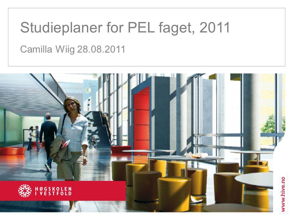 Studieplaner for PEL faget, 2011 Camilla Wiig 28.08.2011