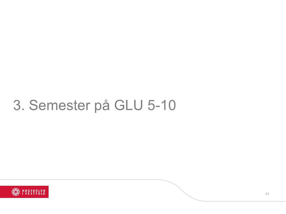 3. Semester på GLU 5-10 24