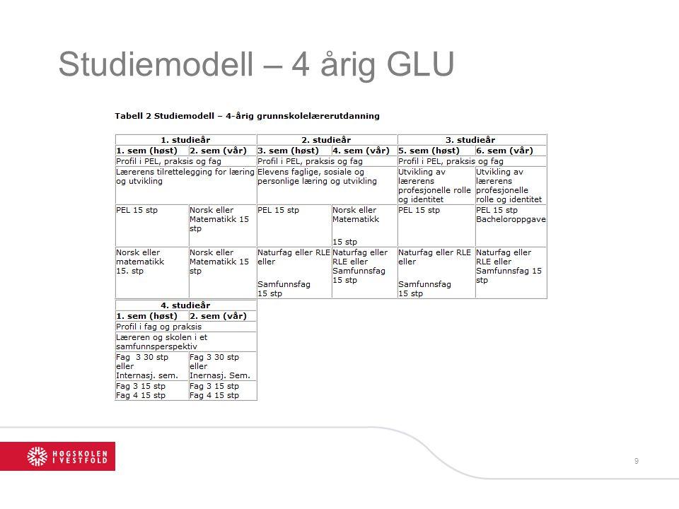 Studiemodell – 4 årig GLU 9