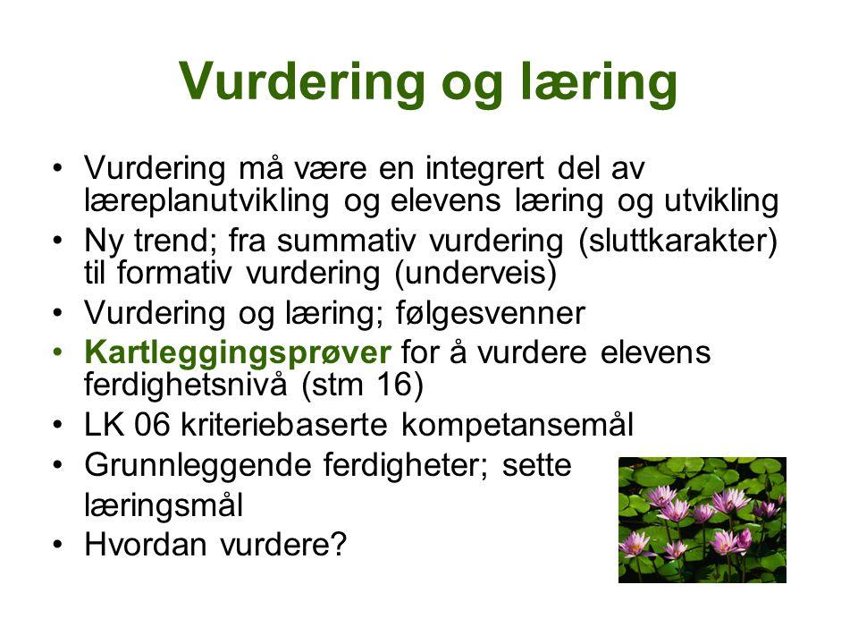 Vurdering http://www.utdanningsdirektoratet.no/Presse meldinger/Elevundersokelsen-2009- Elever-far-lite-tilbakemeldinger/ Elever får for dårlige tilbakemeldinger
