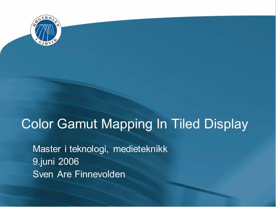 Spyder2Pro LCD projektor Gamut generert ut fra ICC profilen fra Spyder2Pro.