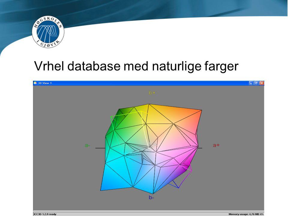 Vrhel database med naturlige farger