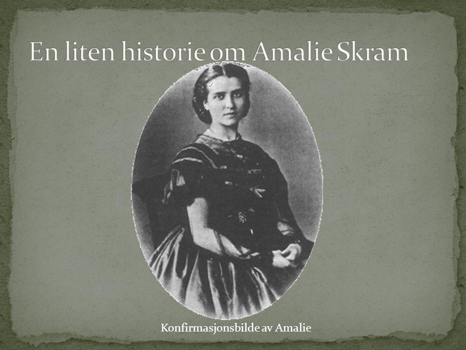 Konfirmasjonsbilde av Amalie