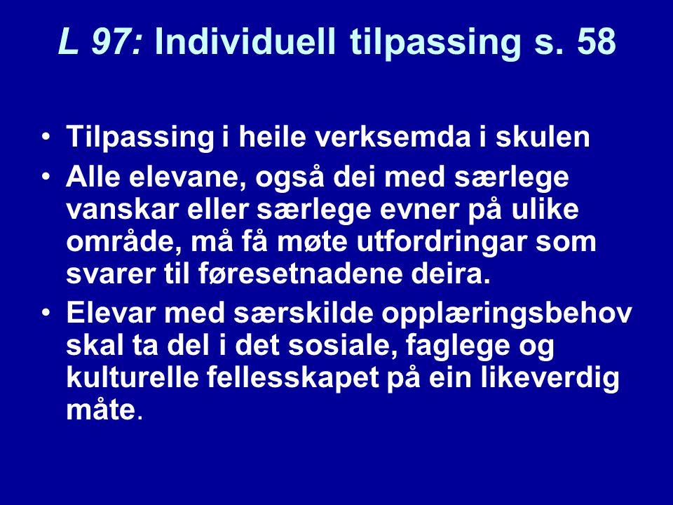 L 97: Individuell tilpassing s.