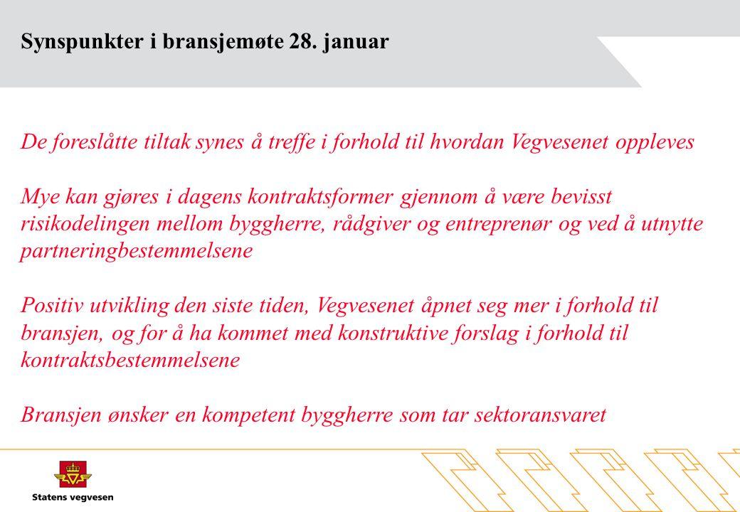 Synspunkter i bransjemøte 28.