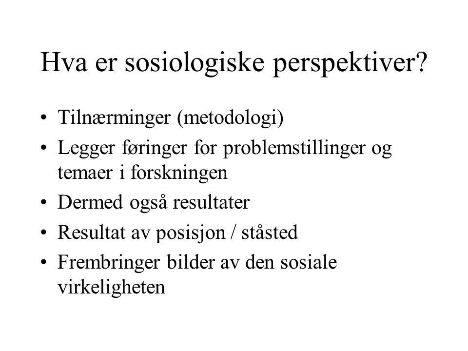 Hva er sosiologiske perspektiver.