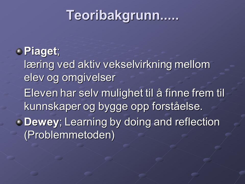 Jerome Bruner, amerikansk psykolog.Learning by discovery.